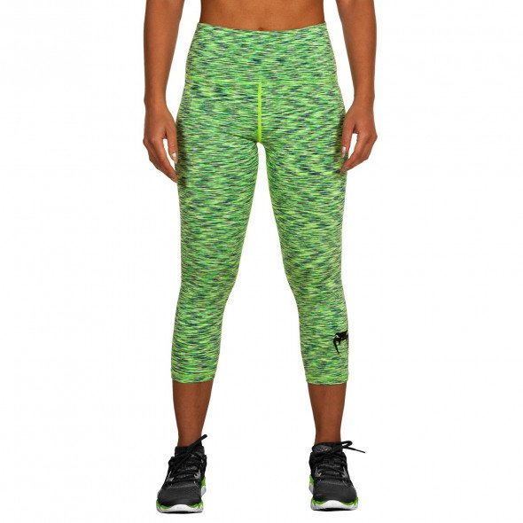 Venum Heather Legging Crops - Heather Blue/Green - For Women