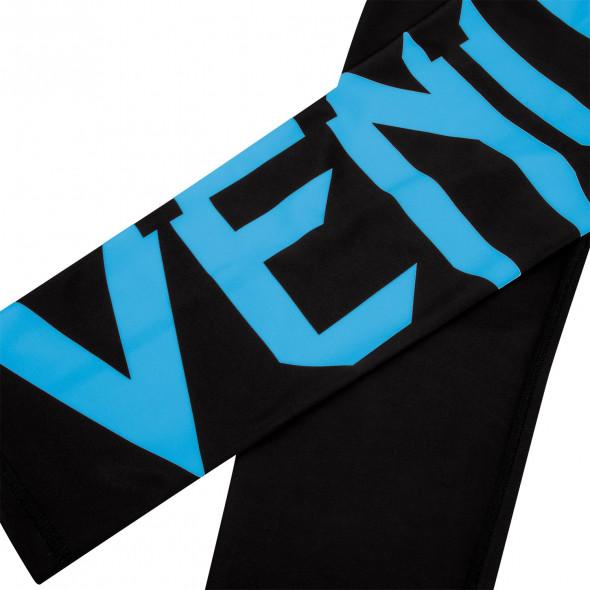 Venum Giant Leggings Crops - Black/Cyan - For Women