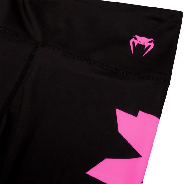 Venum Giant Leggings Crops - Black/Neo Pink - For Women