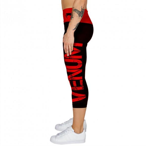 Venum Power Leggings Crops - Black/Red - For Women