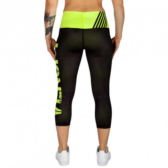 Venum Power Leggings Crops - Neo Yellow/Black - For Women