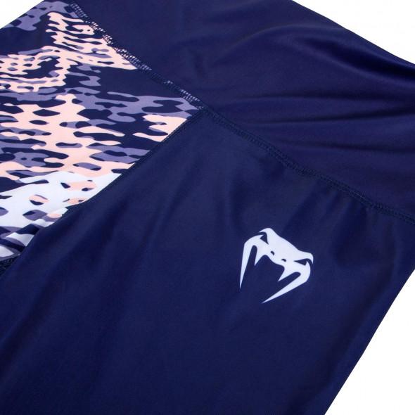 Venum Neo Camo Leggings Crops - Navy Blue/Coral
