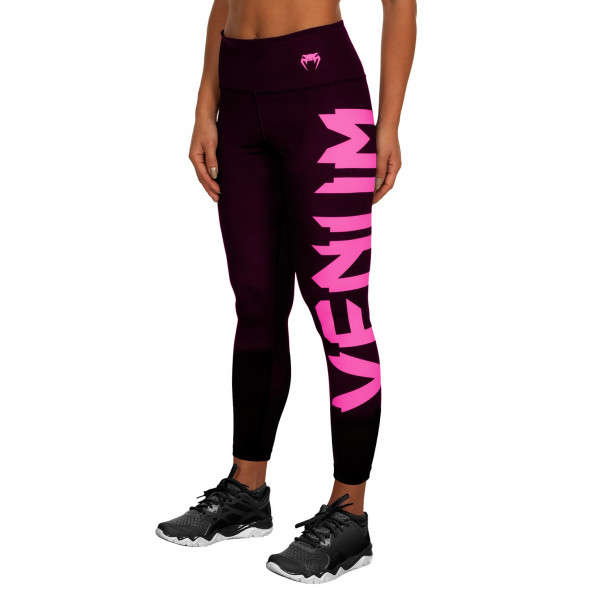 Venum Giant Leggings - Black/Neo Pink - For Women