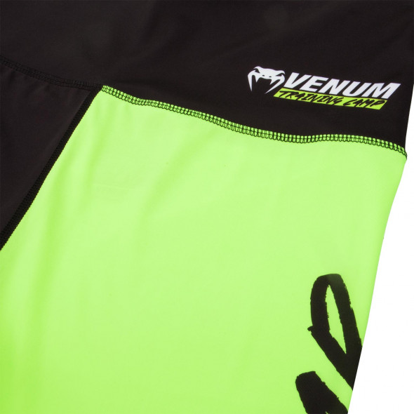 Venum Training Camp Legging - Black/Neo Yellow - For Women