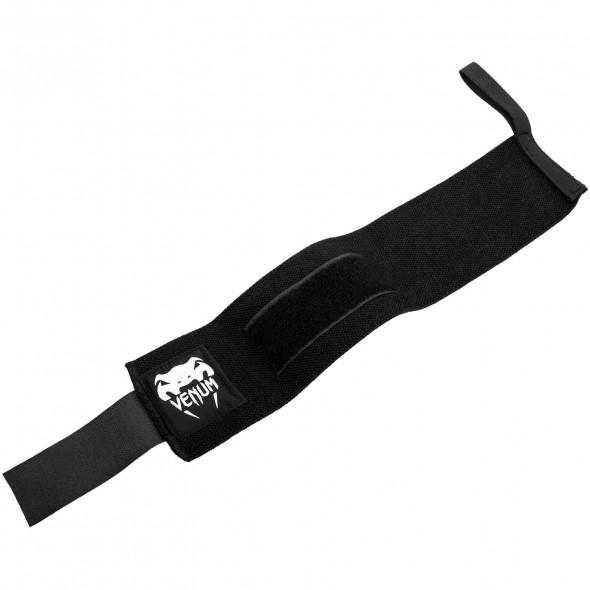Venum Hyperlift Lifting Wrist Bands (Pair) - Black