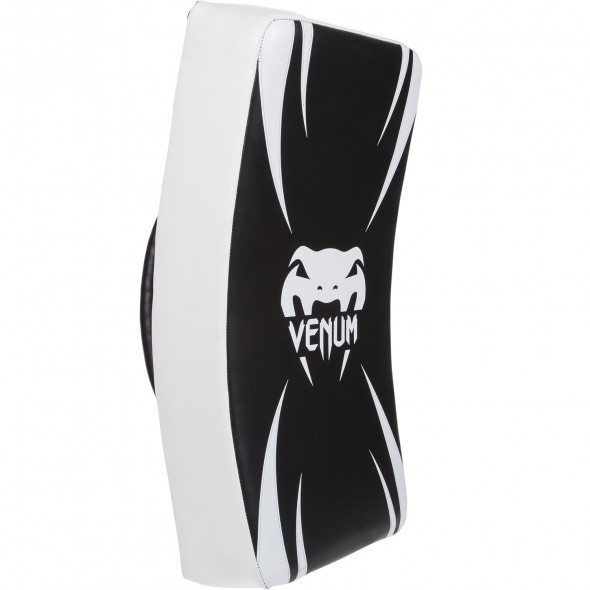 "Venum ""Absolute"" Long Kick Shield - Black/Ice"