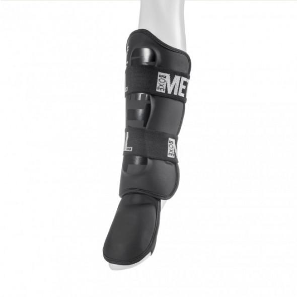 Protège-tibias + pieds détachables Metal Boxe PRO Black Light - Noir