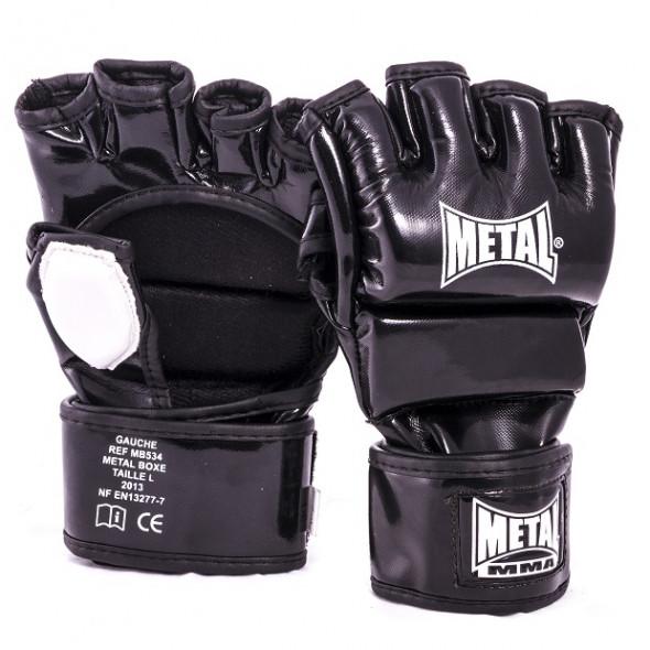 Gants de Combat Libre Metal Boxe - MMA - Noir