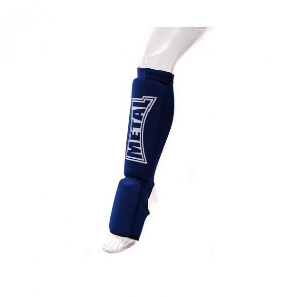 Metal Boxe Shin and step pad, cotton – Blue