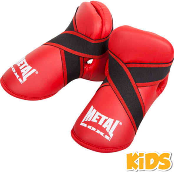 Metal Boxe Step pads Full Contact  - Red