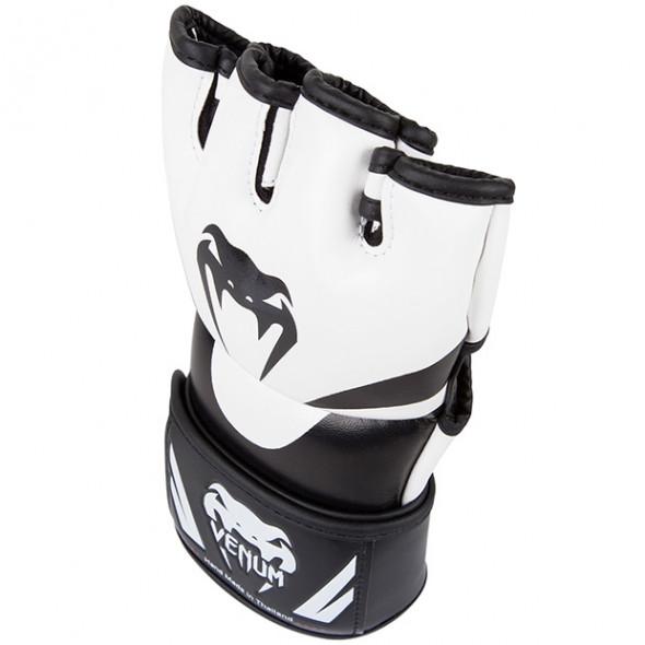 Venum Attack MMA Gloves - Black/Ice - Skintex leather
