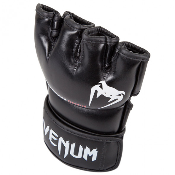 Venum Impact MMA Gloves - Black - Skintex Leather