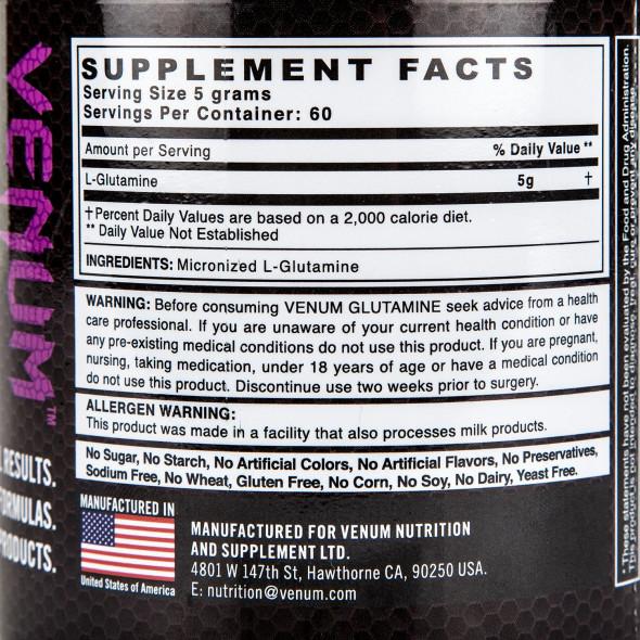 Venum Glutamine Nutritionnal Supplement - 60 Servings - 300g