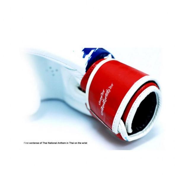 """Fairtex Boxing Gloves """"Thai Pride"""" - White / Blue / Red"""