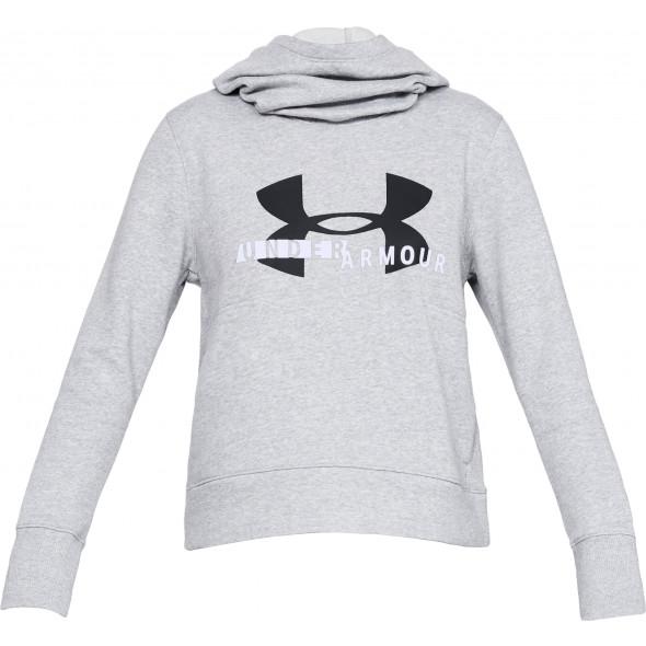 Sweat à capuche Femme Fleece Sportstyle Logo - Gris