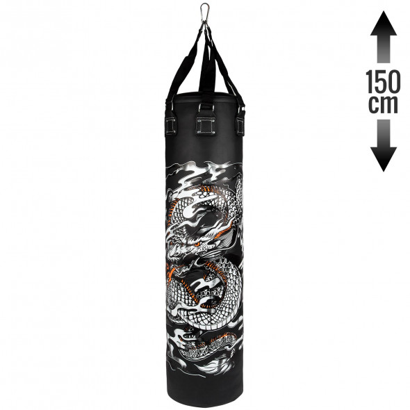 Venum Dragon's Flight Heavy Bag - Black/White - Filled - 150cm