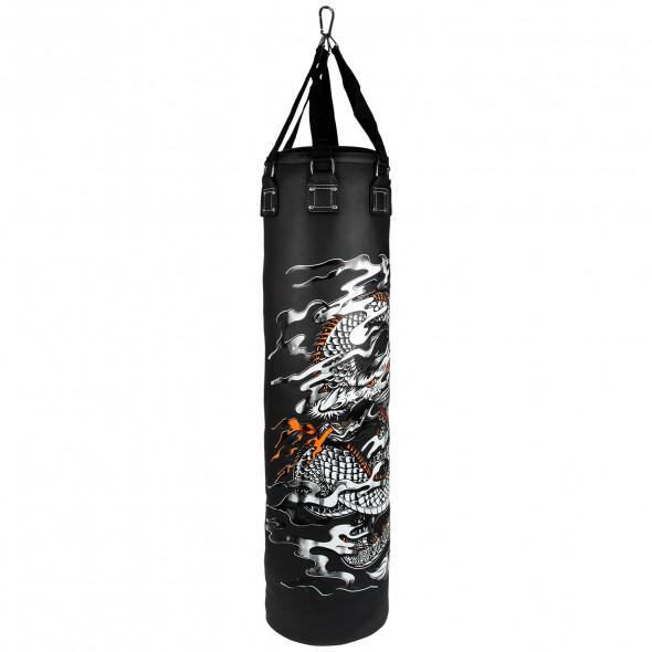 Venum Dragon's Flight Heavy Bag - Black/White - Filled - 170cm
