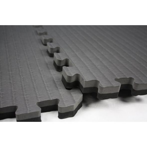Puzzle mats 100x100x4cm (x5) - Black/Gray