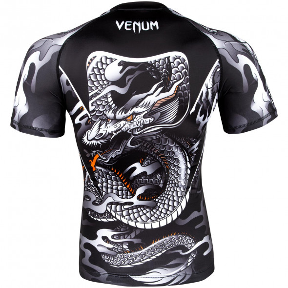 Venum Dragon's Flight Rashguard - Short Sleeves - Black/White