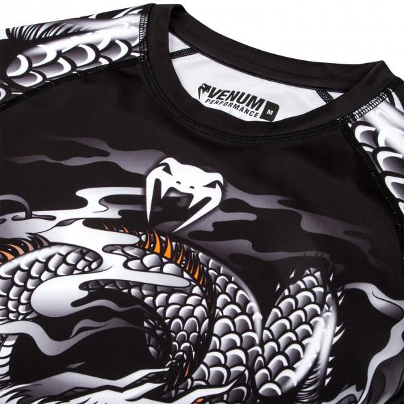Venum Dragon's Flight Rashguard - Short Sleeves - Black/White