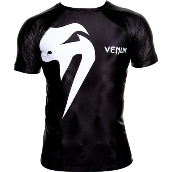 "Venum ""Giant"" Rashguard - Black - Short sleeves"