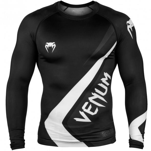 Venum Contender 4.0 Rashguard - Long Sleeves - Black/Grey-White