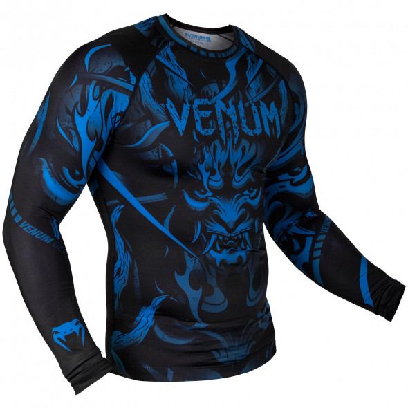 Venum Devil Rashguard - Long Sleeves - Navy Blue/Black - Exclusive