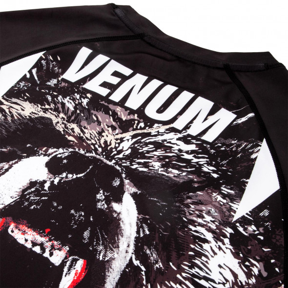 Venum Grizzli Rashguard - Long Sleeves - Black/White