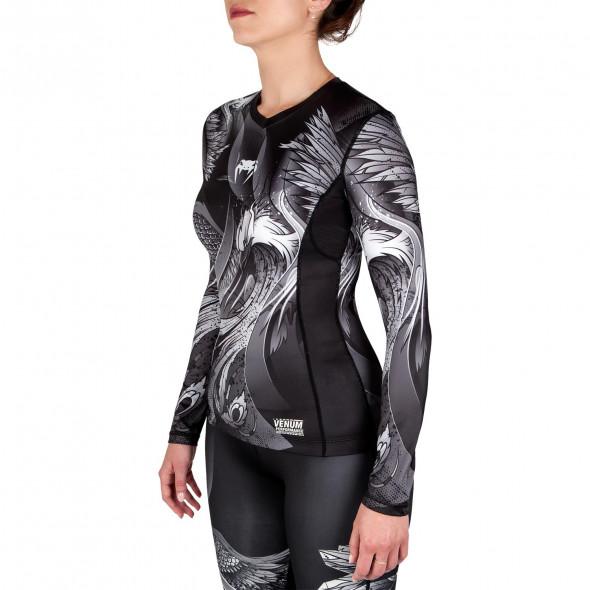 Venum Phoenix Rashguard - Long Sleeves - Black/White - For Women