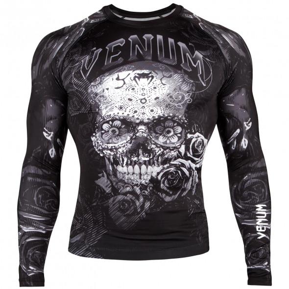 Venum Santa Muerte 3.0 Rashguard - Long Sleeves - Black/White