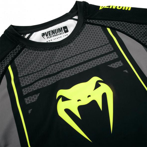 Venum Technical 2.0 Rashguard - Long Sleeves - Black/Yellow