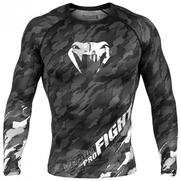 Venum Tecmo Rashguard - Long Sleeves - Dark Grey