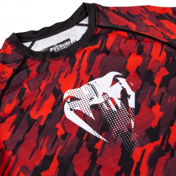 Venum Tecmo Rashguard - Long Sleeves - Red/White