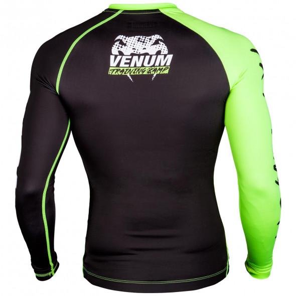 Venum Training Camp Compression T-shirt - Black/Neo Yellow