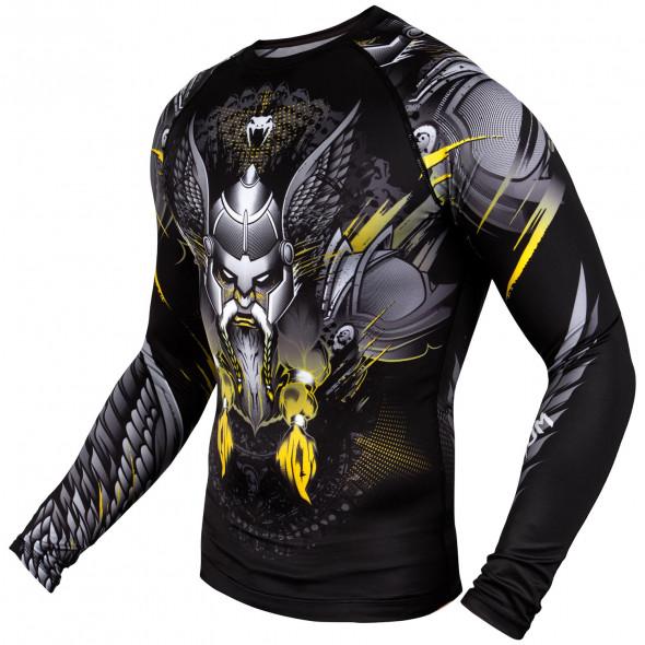 Venum Viking 2.0 Rashguard - Long Sleeves - Black/Yellow