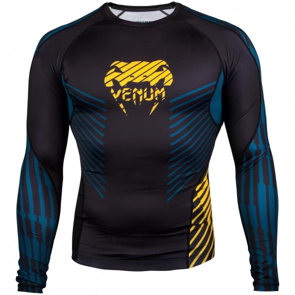 Venum Plasma Rashguard - Long Sleeves - Black/Yellow