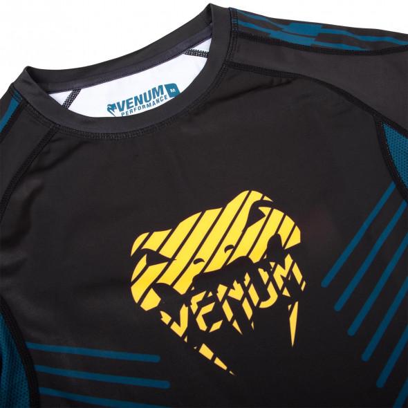 Venum Plasma Rashguard - Short Sleeves - Black/Yellow
