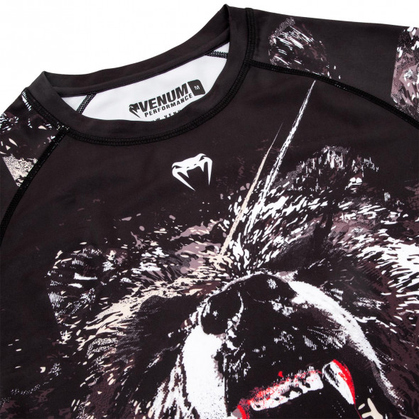 Venum Grizzli Rashguard - Short Sleeves - Black/White