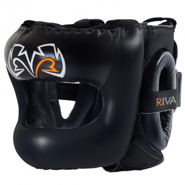 Casque de boxe Rival Face-saver couverture complète - Noir