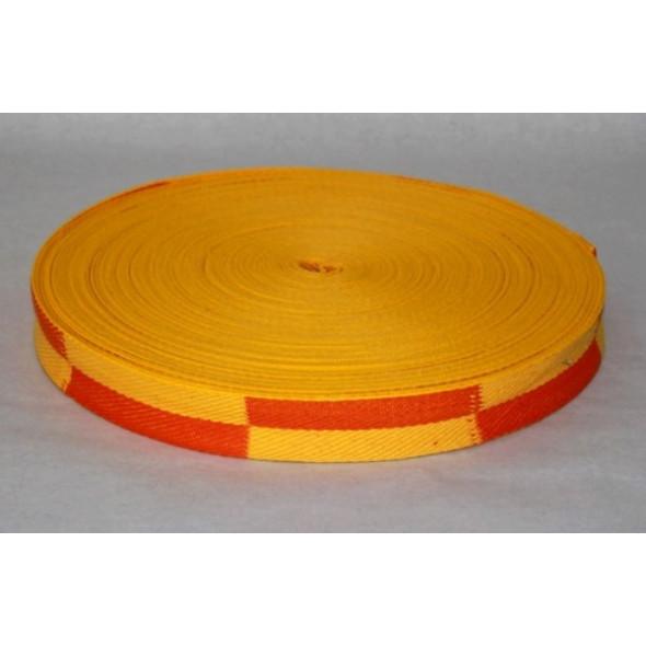Bicolour karate belt - roll of 50 m Fujimae