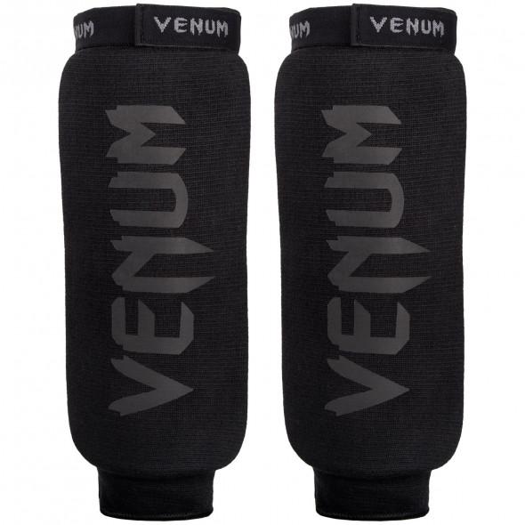 Venum Kontact Shinguards - Without Foot -Black/Black