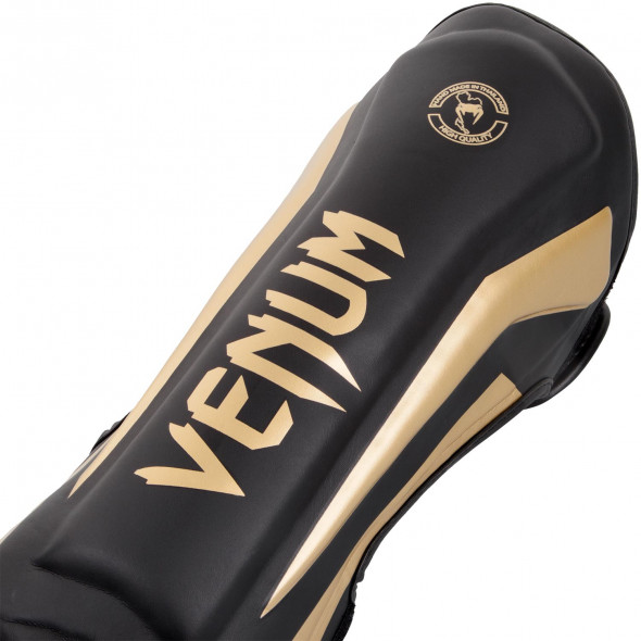 Venum Elite Standup Shinguards - Black/Gold