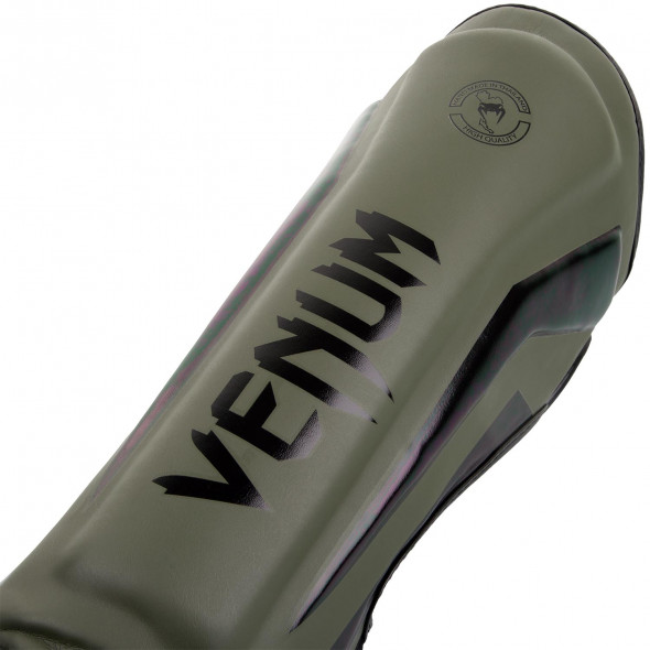 Venum Elite Standup Shinguards - Khaki/Black