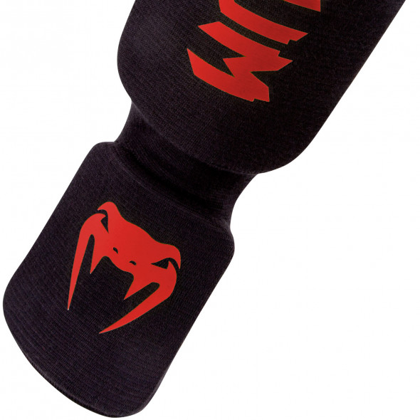 Venum Kontact Shinguards - Black/Red