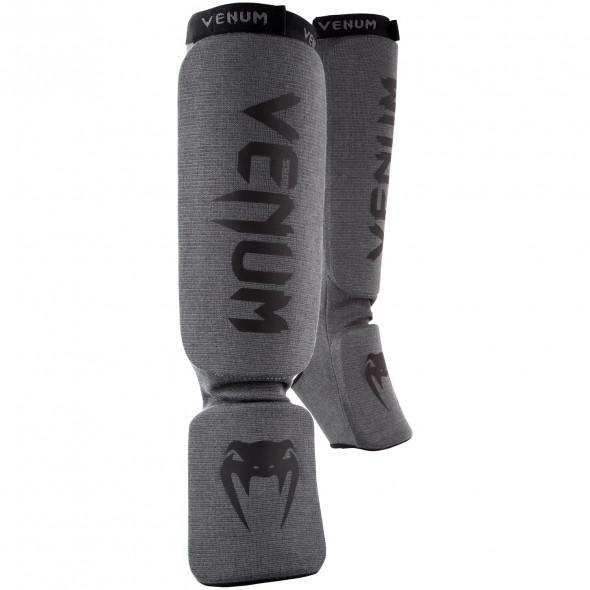 Venum Kontact Shinguards-Grey/Black