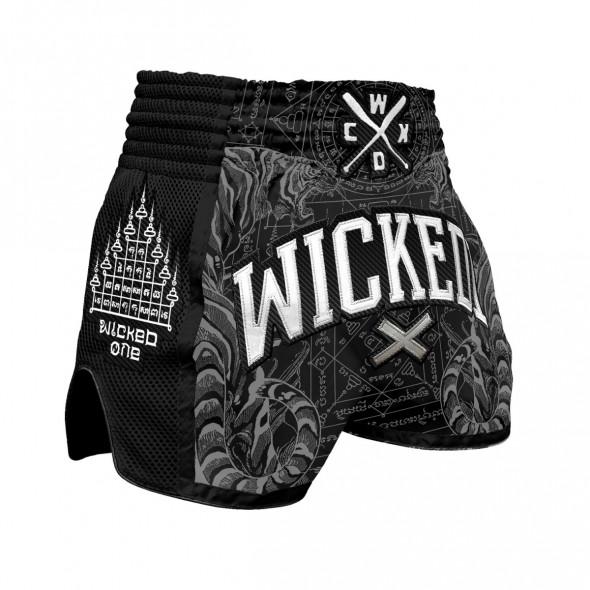 Short de Muay Thai Wicked One Tiger - Noir
