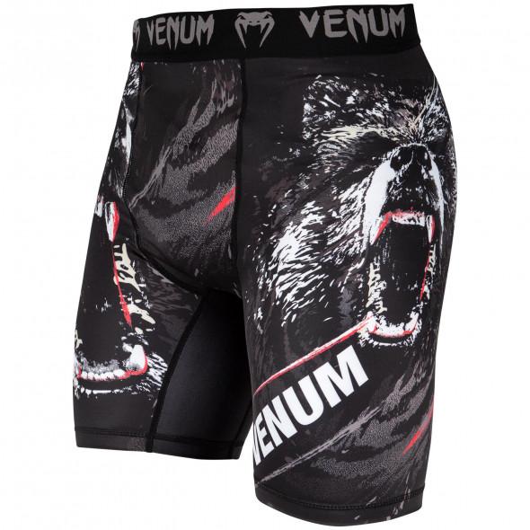 Venum Grizzli Compression Shorts - Black/White