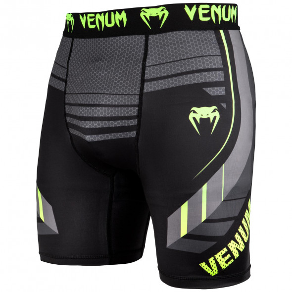 Venum Technical 2.0 Compression Shorts - Black/Yellow