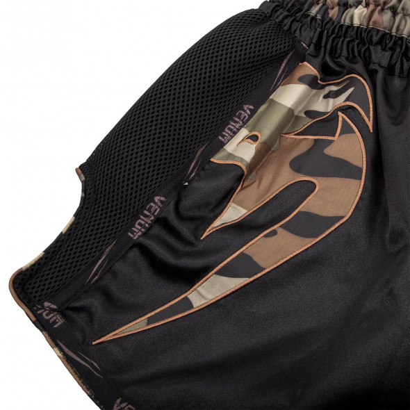 Venum Giant Muay Thai Shorts - Black/Forest Camo