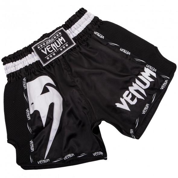 Venum Giant Muay Thai Shorts - Black/White
